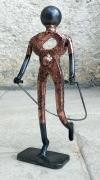 sculpture personnages sport saut ,a la corde sportif : saut à la corde