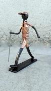 sculpture personnages marche nordique randonnee balade randonneur : marche nordique