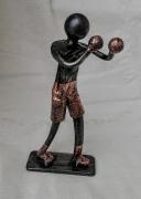 sculpture sport boxeur ring boxe : boxeur