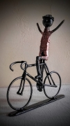 sculpture sport cycliste velo course tour de france : cycliste