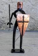 sculpture personnages chevalier templier armure chevalerie : chevalier