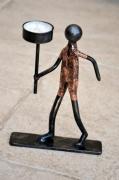 sculpture personnages photophore marcheur bougie randonneur : photophore marcheur