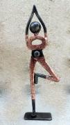 sculpture personnages yoga danse gymnaste zen : yoga 2
