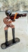 sculpture personnages violon musicien violoniste : violoniste