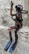sculpture sport plongee sous marine plongeur bouteille mer plongeur : plongeur