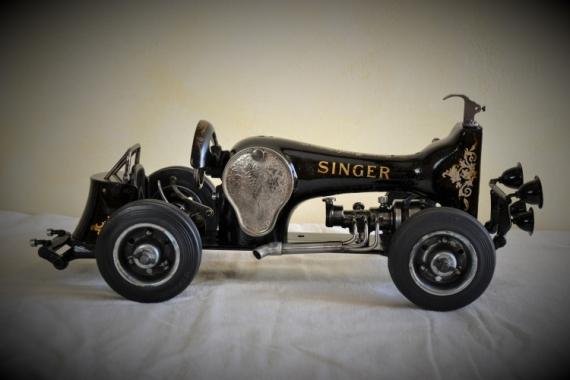 ARTISANAT D'ART voiture roadster sewing machine car course Sport  - voiture 5