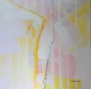 tableau abstrait peinture toile jacques grange : Prison rose
