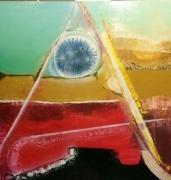 tableau abstrait peinture ,a l huile jacques grange toile art moderne : Félix qui potuit rerum cognoscere causas