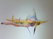 dessin abstrait dessin art abstrait jacques grange : Spectre pisciforme