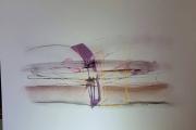 dessin abstrait dessin abstrait art peinture : Surfilage orange