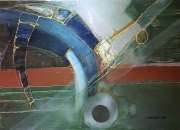 tableau abstrait toile acrylique abstrait peinture : Retour de Marbre