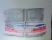 dessin abstrait dessin art abstrait peinture : Hyperbole colonnes au loin