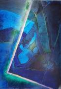tableau abstrait toile acrylique abstrait grange : Y'a toujours un angle