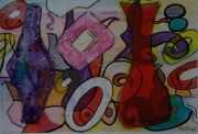 tableau abstrait abstrait surrealiste multicolore fantaisie : Le rêve