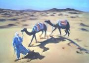 tableau paysages caravane dune desert maroc : Caravane