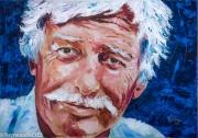tableau personnages ferrat peinture hommage chanteur : Jean Ferrat