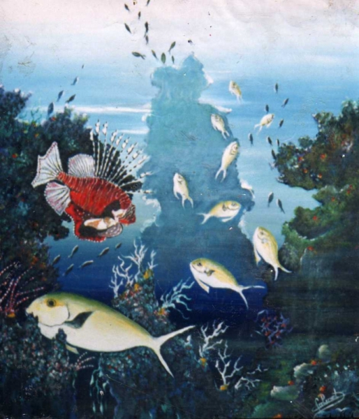 TABLEAU PEINTURE tableau art salmet marin Marine Peinture a l'huile  - les chirurgiens