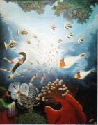tableau marine tableau art salmet marin : scintillement