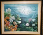 tableau marine tableau art salmet marin : le merou