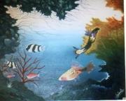 tableau marine salmet poisson tableau toile : le serpentin