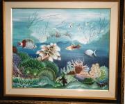 tableau marine tableau art salmet marin : promenade aquatique