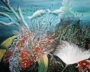tableau marine tableau art salmet marin : Rose des mers