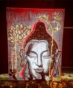 tableau autres streetart boudhisme : BOUDHISM' INSPI