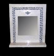 deco design abstrait mosaique miroir galet decoration : miroir mosaique