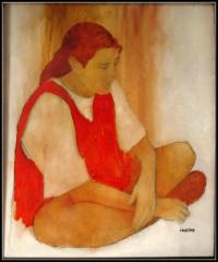 fille en chasunle rouge