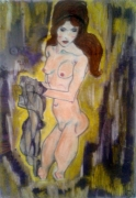tableau nus poupee desarticulee maigre nue : Poupée