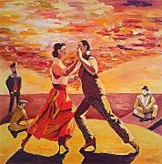 tableau personnages tango danse couple : Tango