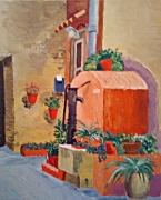 tableau paysages fontiane midi sud mediterannee : Fontaine méridionale