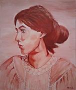 tableau personnages isabelle sepia portrait : Isabelle