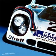 tableau sport automobile auto porsche voiture : Légendaire 917