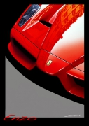 tableau sport ferrari automobile enzo voiture : ENZO...NE ROUGE