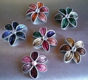 artisanat dart fleurs acs81 free fr fait main : broche 6 pétales