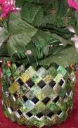 deco design fleurs cache pot magazines fait main recyclage creatif : cache pot