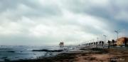 photo paysages tempete coup de mer plage port la nouvelle : Coup de mer.