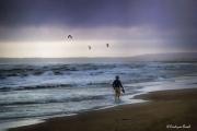 photo paysages mer plage ciel port la nouvelle : Alone.