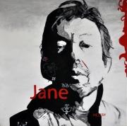 tableau personnages gainsbourg portrait noir et blanc jane : Gainsbourg
