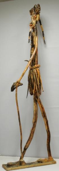 SCULPTURE sculpture bois personnages grand Personnages Assemblage Bois  - Outsi