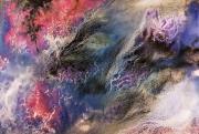 tableau autres galaxie acrylique peinture etoile : Galaxie