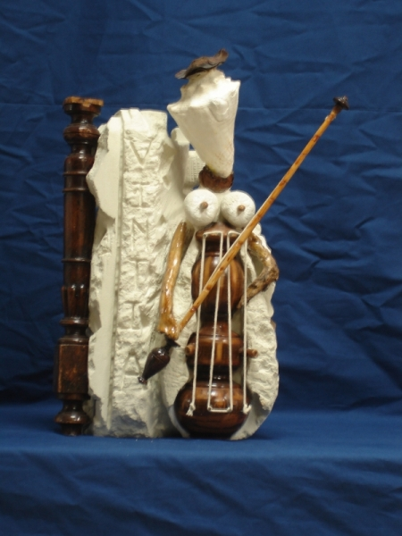 SCULPTURE sculpture bois pierre musique Personnages Taille Pierre  - Muzica