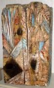 sculpture abstrait ete bois peinture sculpture : L'été