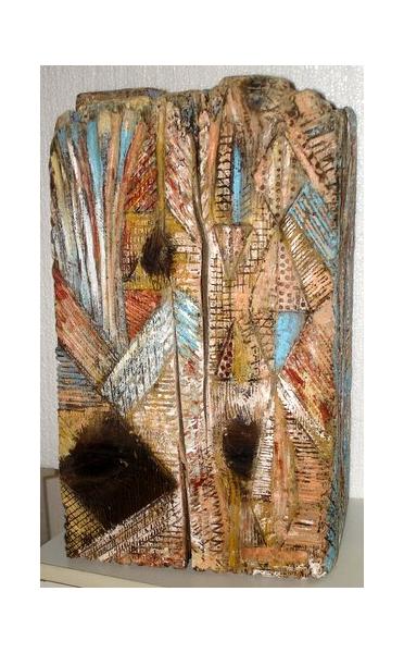 SCULPTURE été bois peinture sculpture Abstrait Bois  - L'été