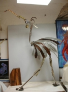 sculpture animaux metal oiseaux sculpture ibis : Ibis