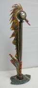 sculpture animaux oiseaux metal sculpture mer : L'hyppocampe