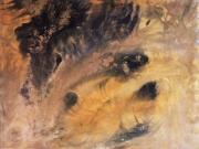 tableau autres volcan peinture acrylique toile : Volcan