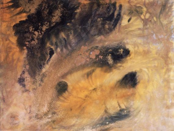 TABLEAU PEINTURE volcan peinture acrylique toile Acrylique  - Volcan