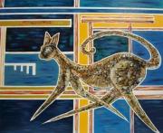 tableau animaux chat peinture bois personnages : Fiona